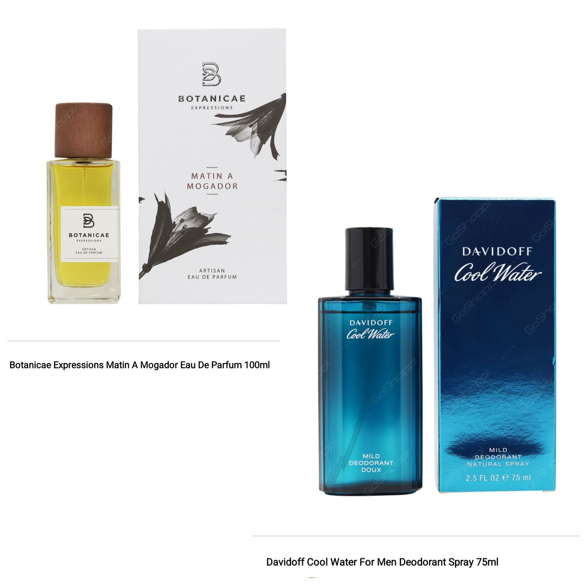Botanicae Matin A Mogador 100ml and Davidoff Cool Water Deodrant Spray 75ml Combo Offer