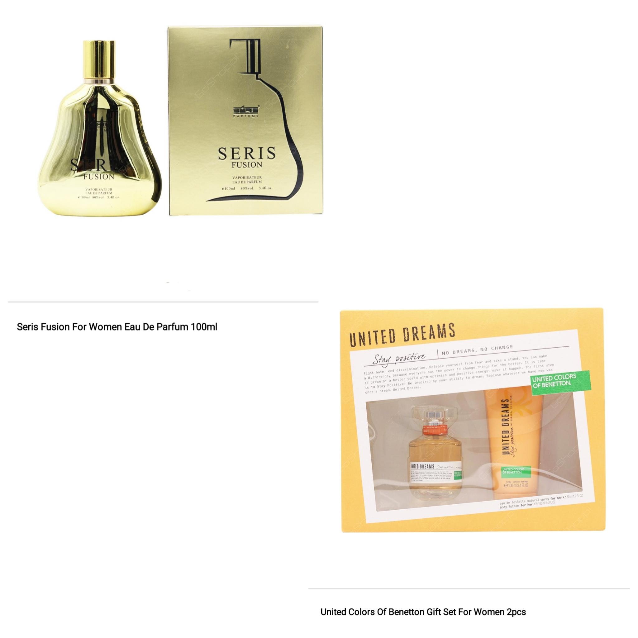 Seris Fusion 100ml and United Colors Of Benetton Gift Sets Combo Offer