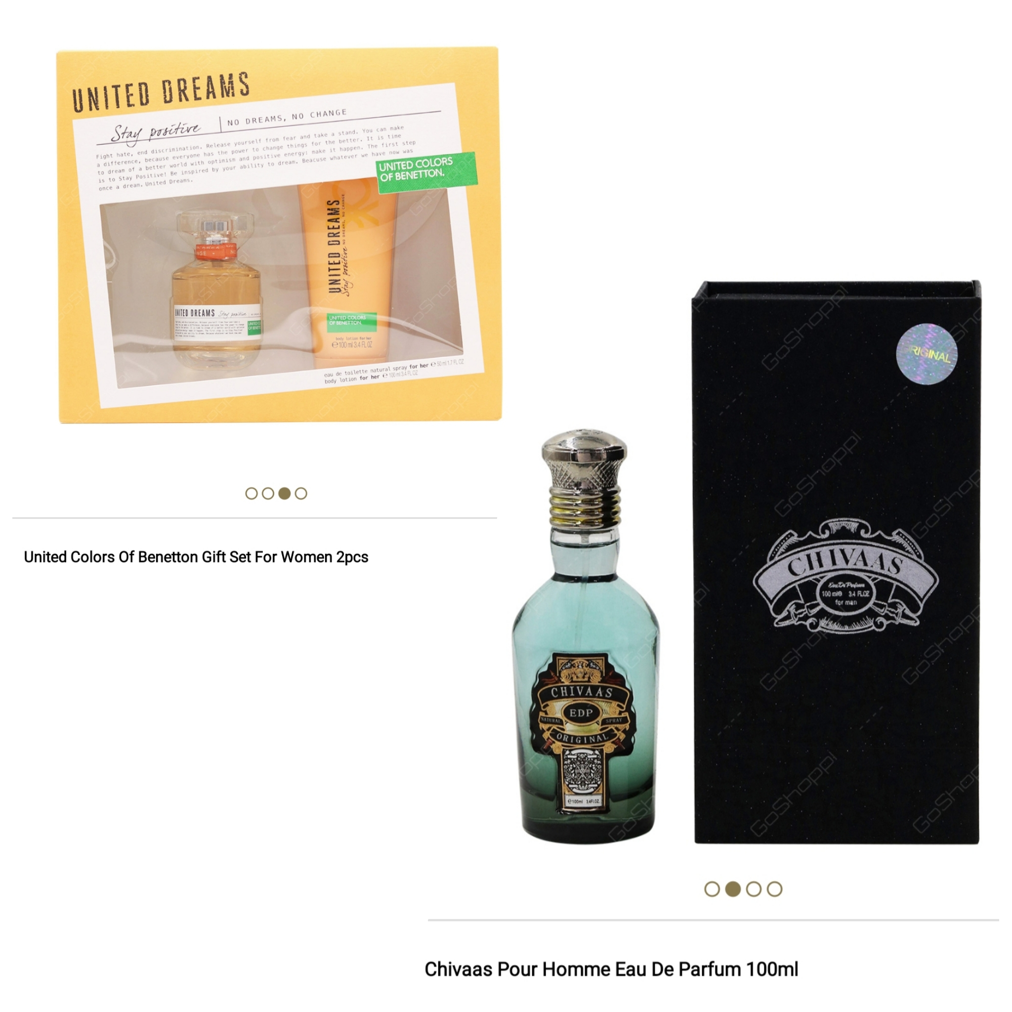 Chivaas Edp 100ml and United Colors Of Benetton Gift Sets Combo Offer
