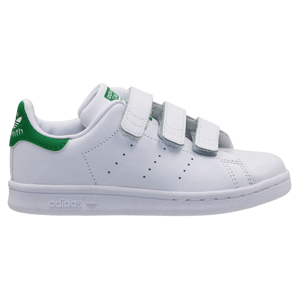 8bffd6c34 Adidas Originals Stan Smith CF C Shoes For Kids - White - Green - M20607