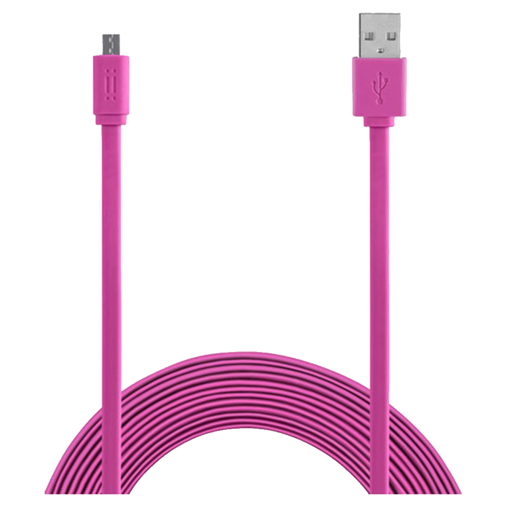 Aiino Micro USB To USB 3.0 Flat Cable 1.5M AICMCRUSBF-PK - Pink