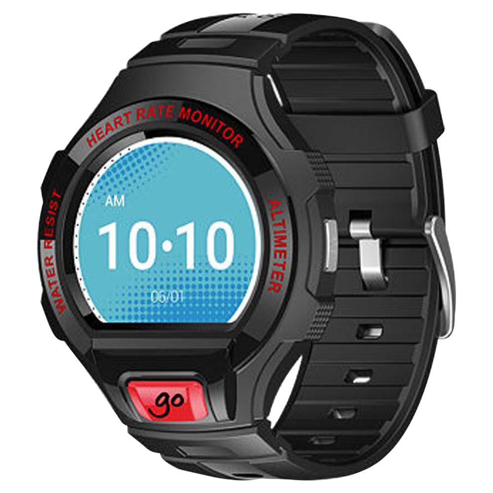 Alcatel Go Smartwatch Black With White Strap