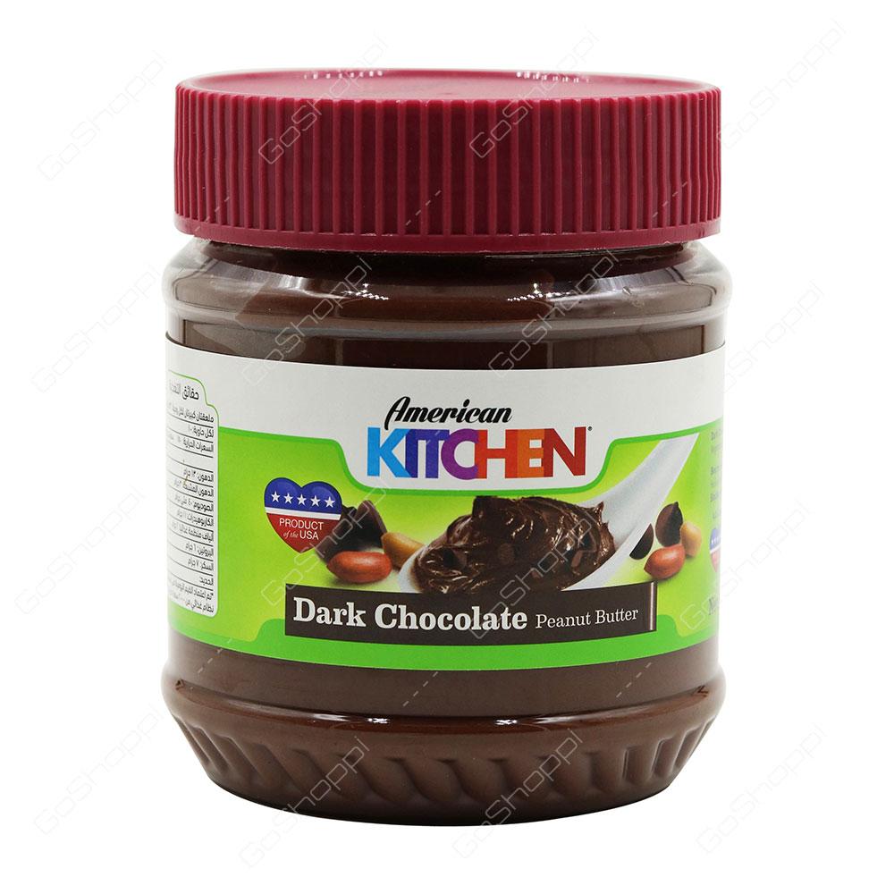 281657503370 American Kitchen Dark Chocolate Peanut Butter 340 g - Buy Online