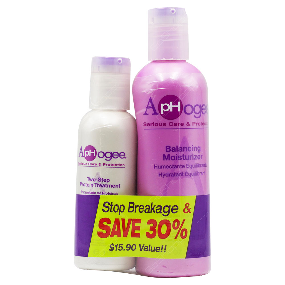Aphogee Two Step Protein Treatment & Balancing Moisturizer Set 2pcs
