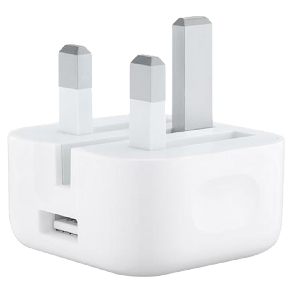 Apple 5W USB Power Adapter With Folding Pins - White - MGRL2B/A