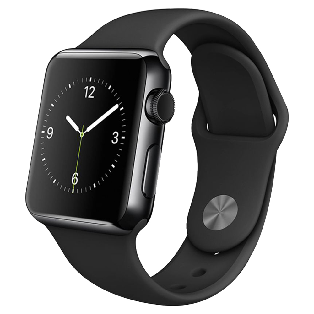 Apple Watch Series I 38mm Black Stainless Steel Case With Black Sport Band