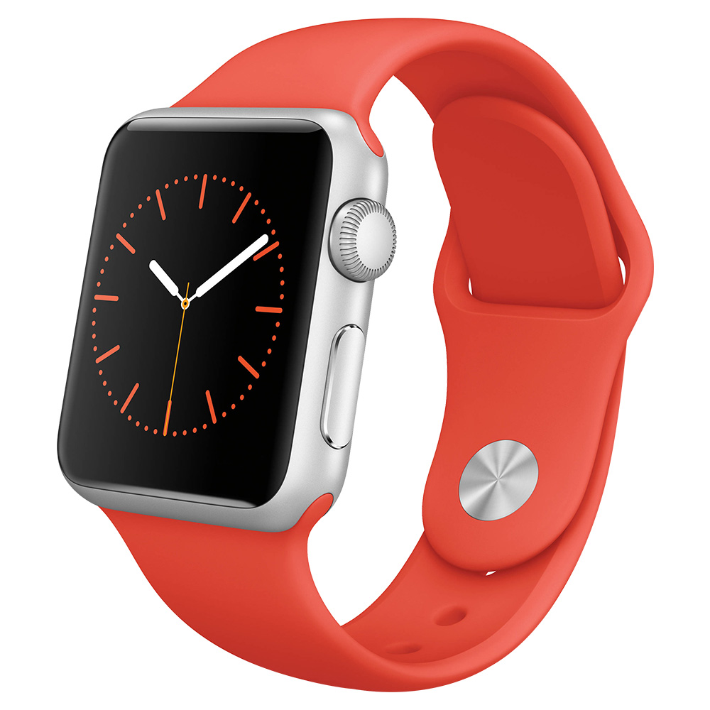 Apple Watch Series I 38mm Stainless Steel Case With Red Sport Band - MLLD2AE/A