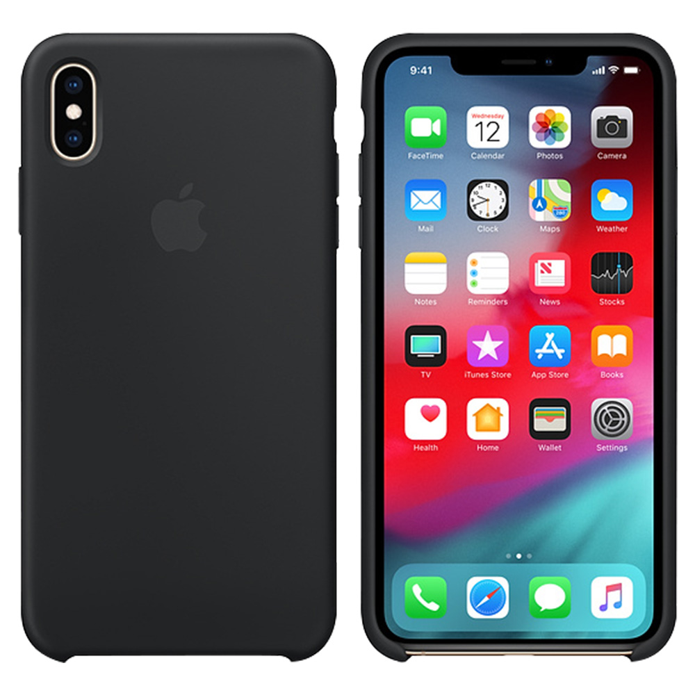 Apple iPhone Xs Max Silicone Case - Black - MRWE2ZM/A