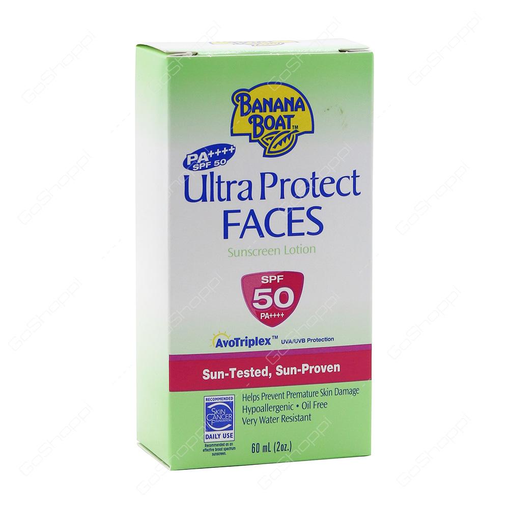 Banana Boat Ultra Protect Faces Sunscreen Lotion 60 ml