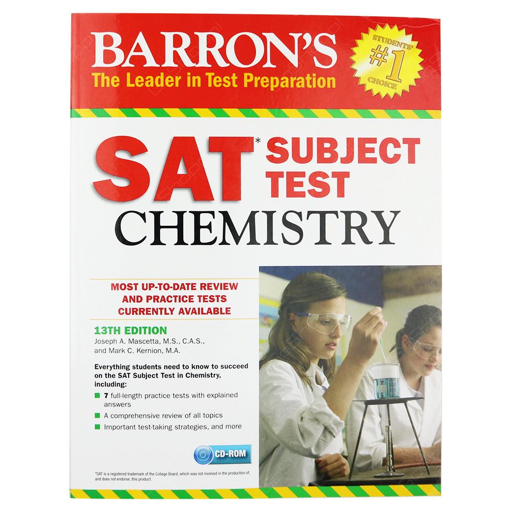 Barron's SAT Subject Test Chemistry 13th Edition - Buy Online