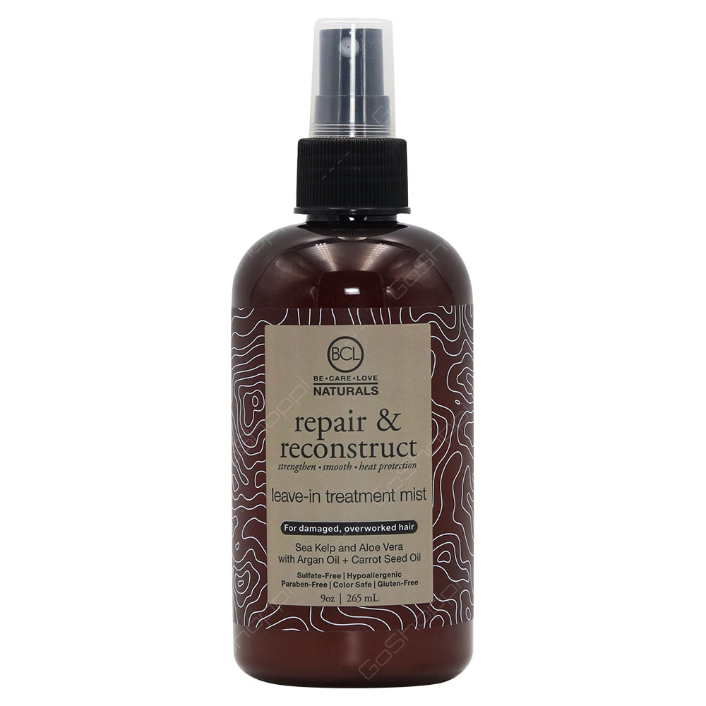 Be Care Love Naturals Repair & Reconstruct Leave In Treatment Mist For Damaged And Overworked Hair 265ml