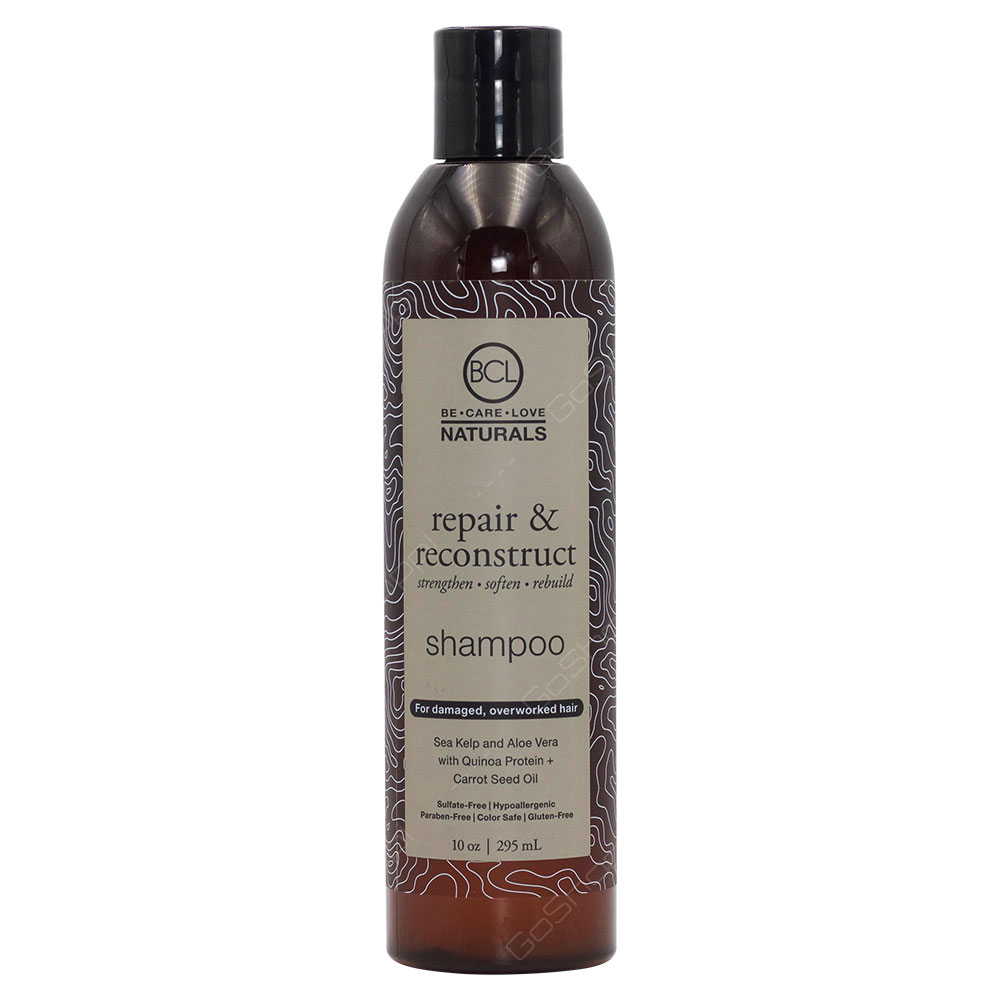 Be Care Love Naturals Repair & Reconstruct Shampoo For Damaged And Overworked 295ml