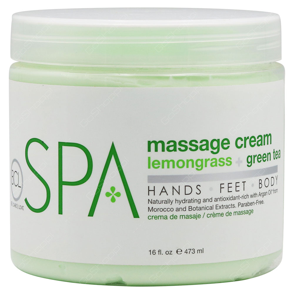 Be Care Love SPA Massage Cream Lemongrass+Green Tea 473g