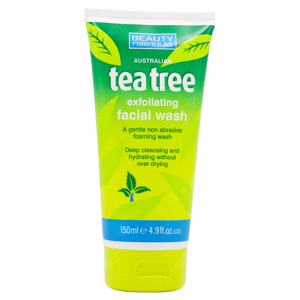Beauty Formulas Australian Tea Tree Exfoliating Facial Wash 150ml