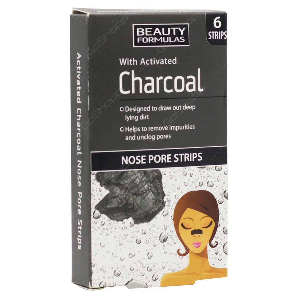 Beauty Formulas Charcoal Nose Pore Strips 6Strips