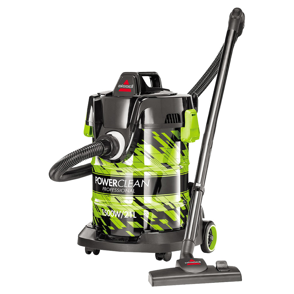 Bissell 21L 1500W Powerclean Wet And Dry Drum Vacuum Cleaner Green - 2026E