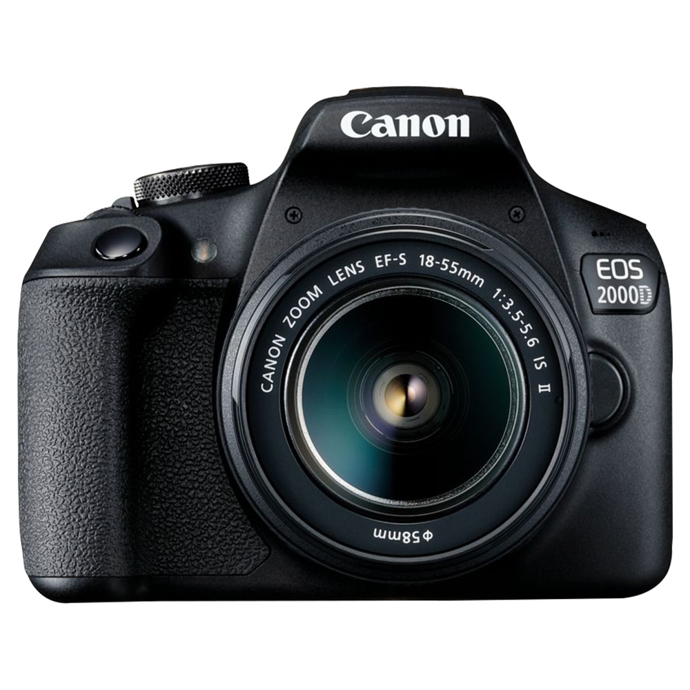 Canon EOS 2000D DSLR Camera 18-55mm IS II Lens