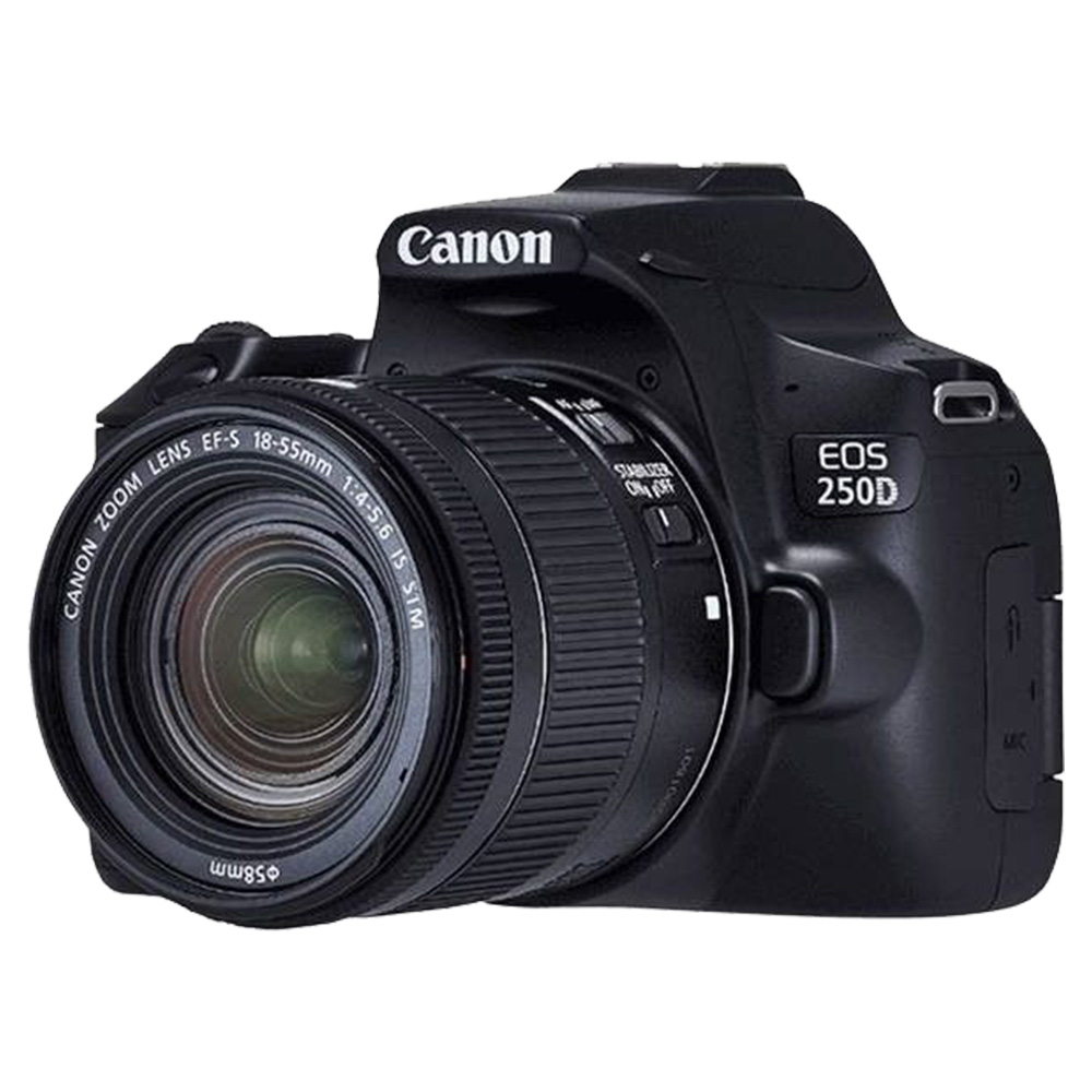 Canon EOS 250D 18-55 Digital Camera, 24.1MP, WiFi, Bluetooth - EOS250DKIT