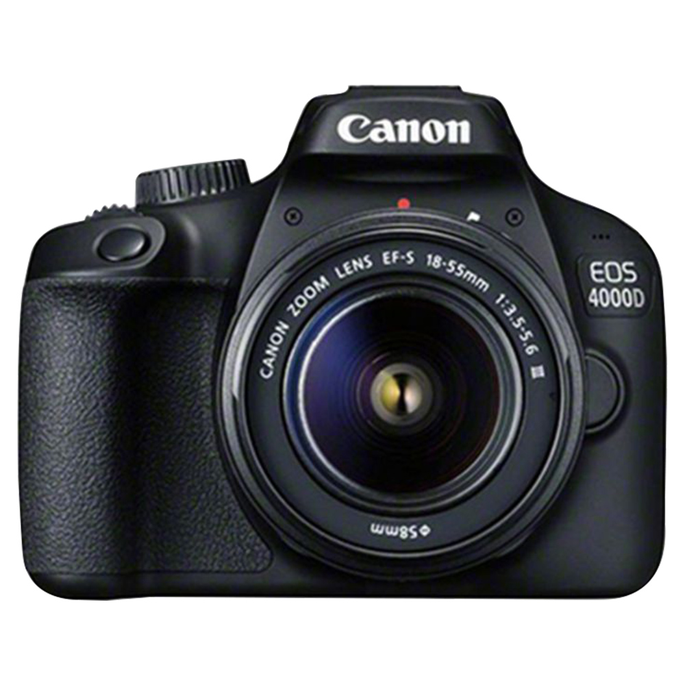 Canon EOS 4000D DSLR Camera With 18-55mm Lens - Black