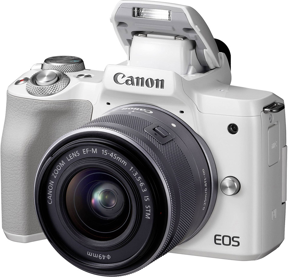 Canon EOS M50 Digital Camera 15-45 IS STM 24.1MP APS-C Cmos Sensor - White