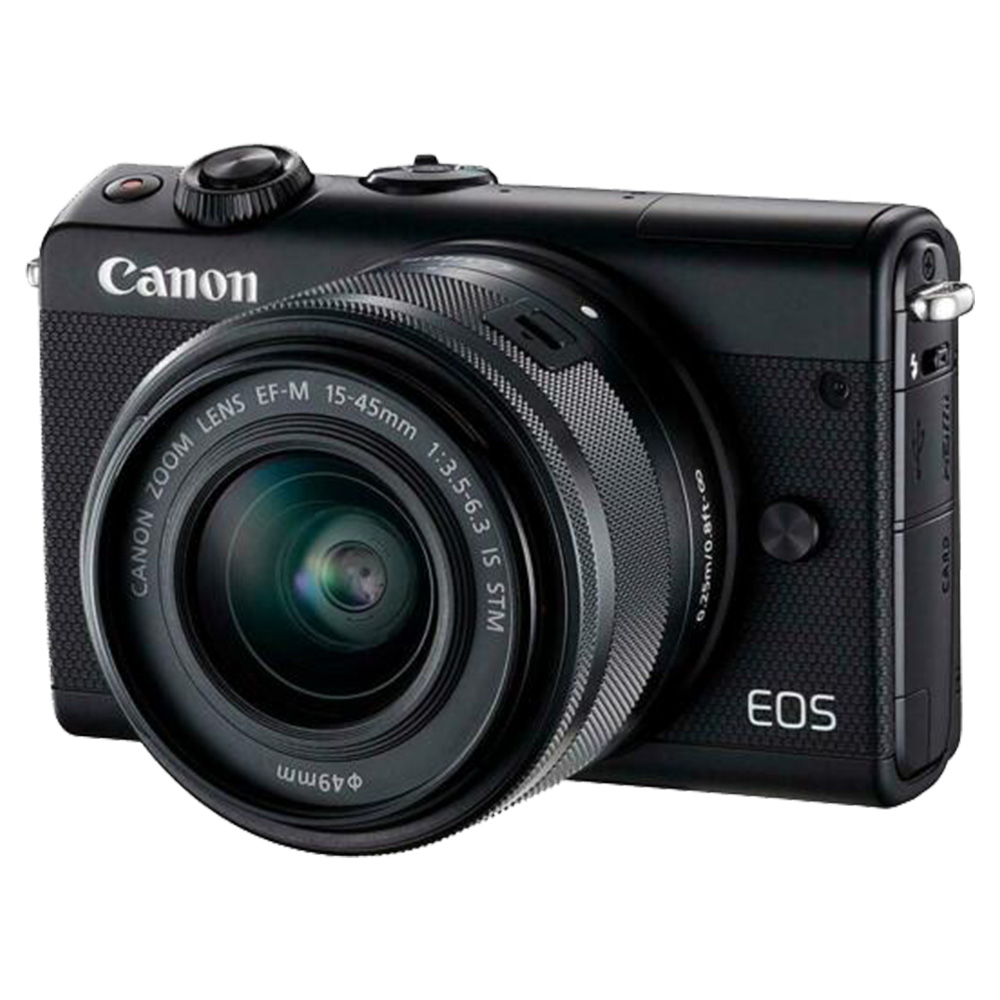 Canon EOSM100 Mirrorless Camera With 15-45mm Lens - Black
