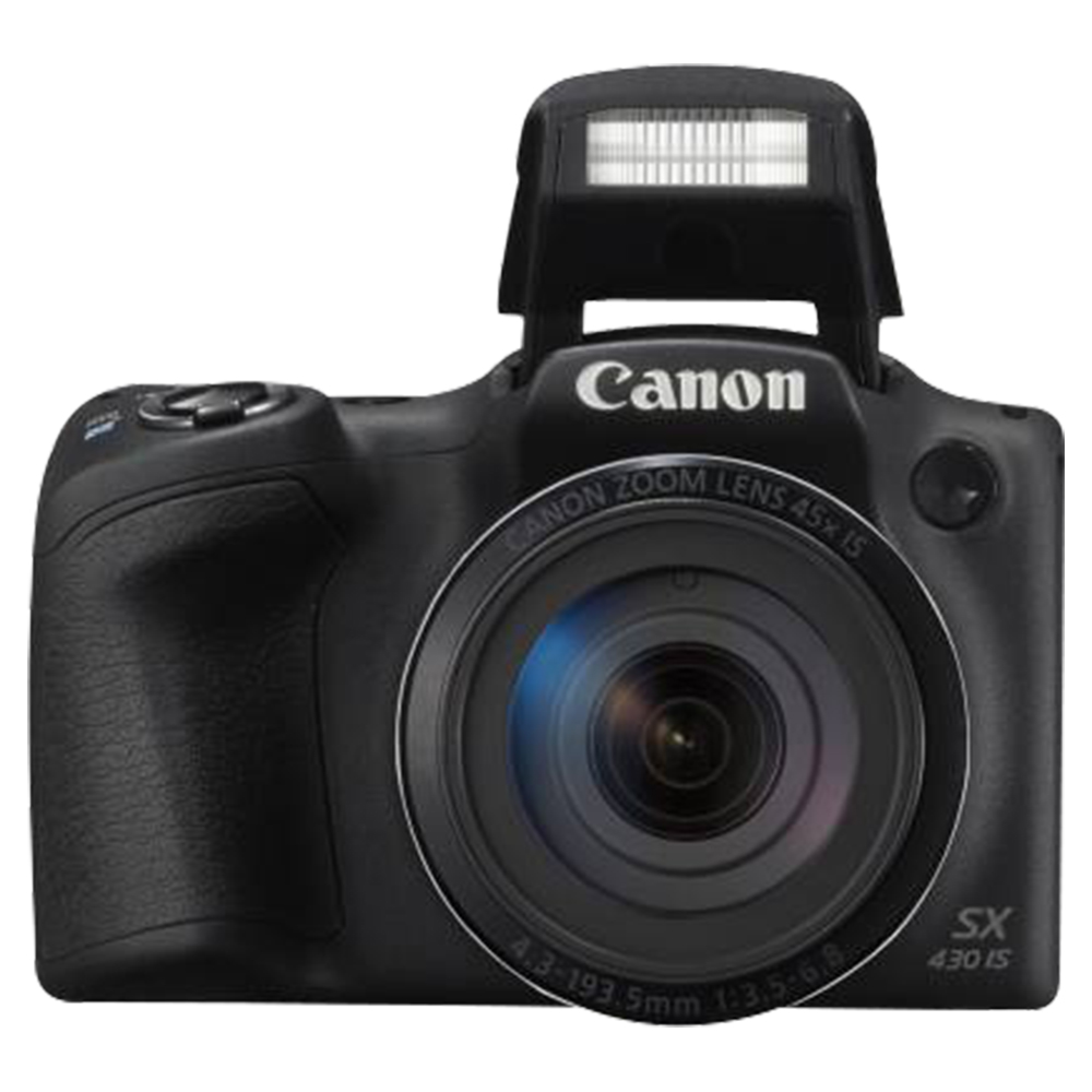 Canon SX430 IS PowerShot Digital 20.5MP Optical Zoom Camera - Black - PSSX430BK