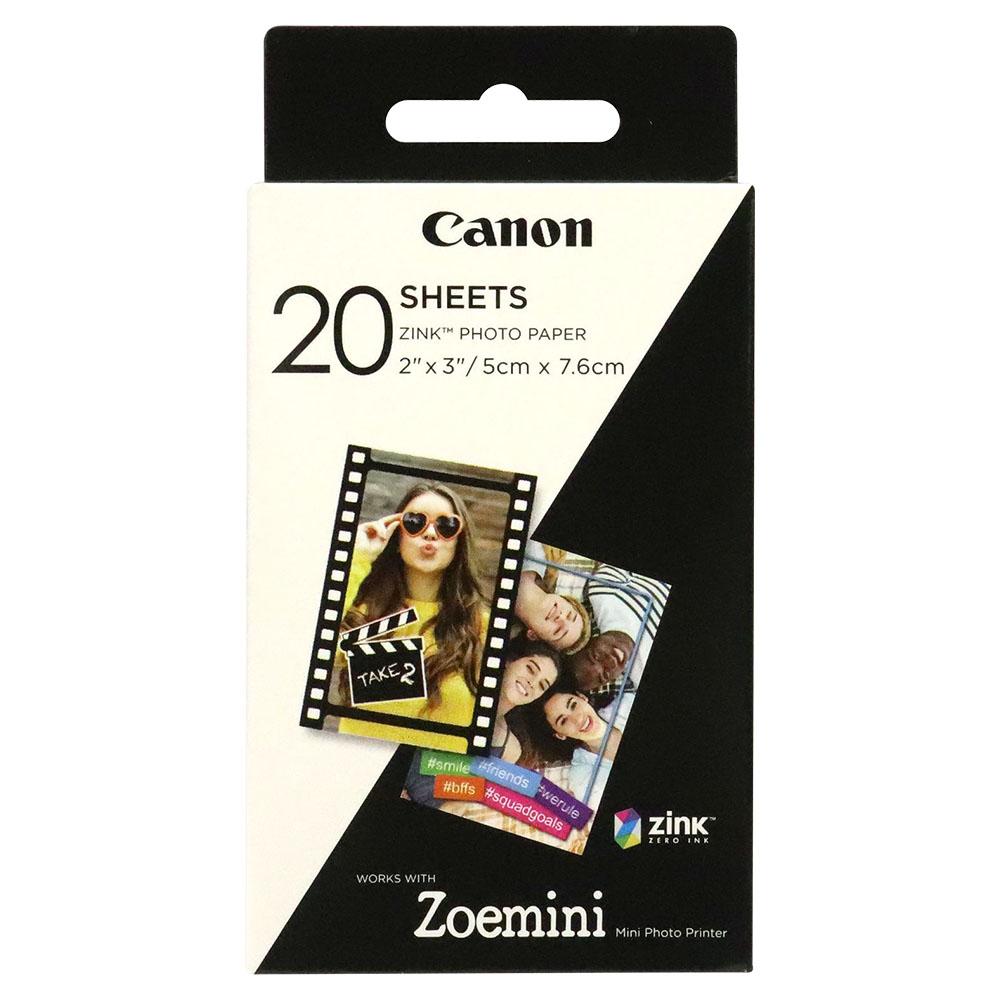 Canon Zink Photo Paper Works With Zeomini Mini Photo Printer White 20 Sheets