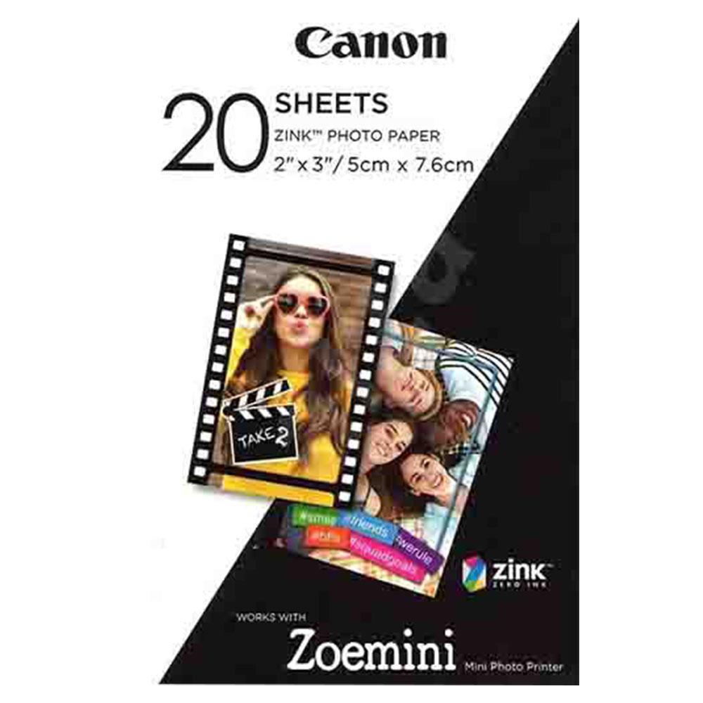 Canon Zoemini Printer Black + Zink Paper PV-123BKB 20 Sheets