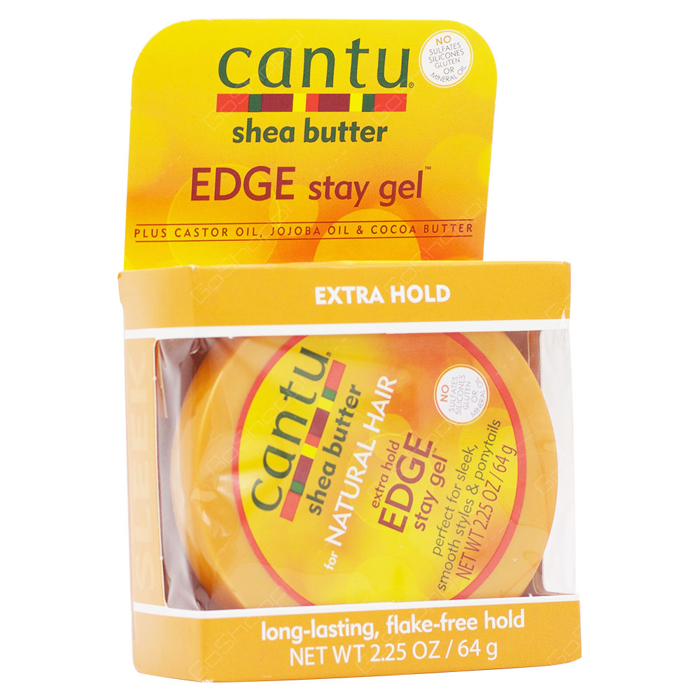 Cantu Shea Butter Extra Hold Edge Stay Gel 64g