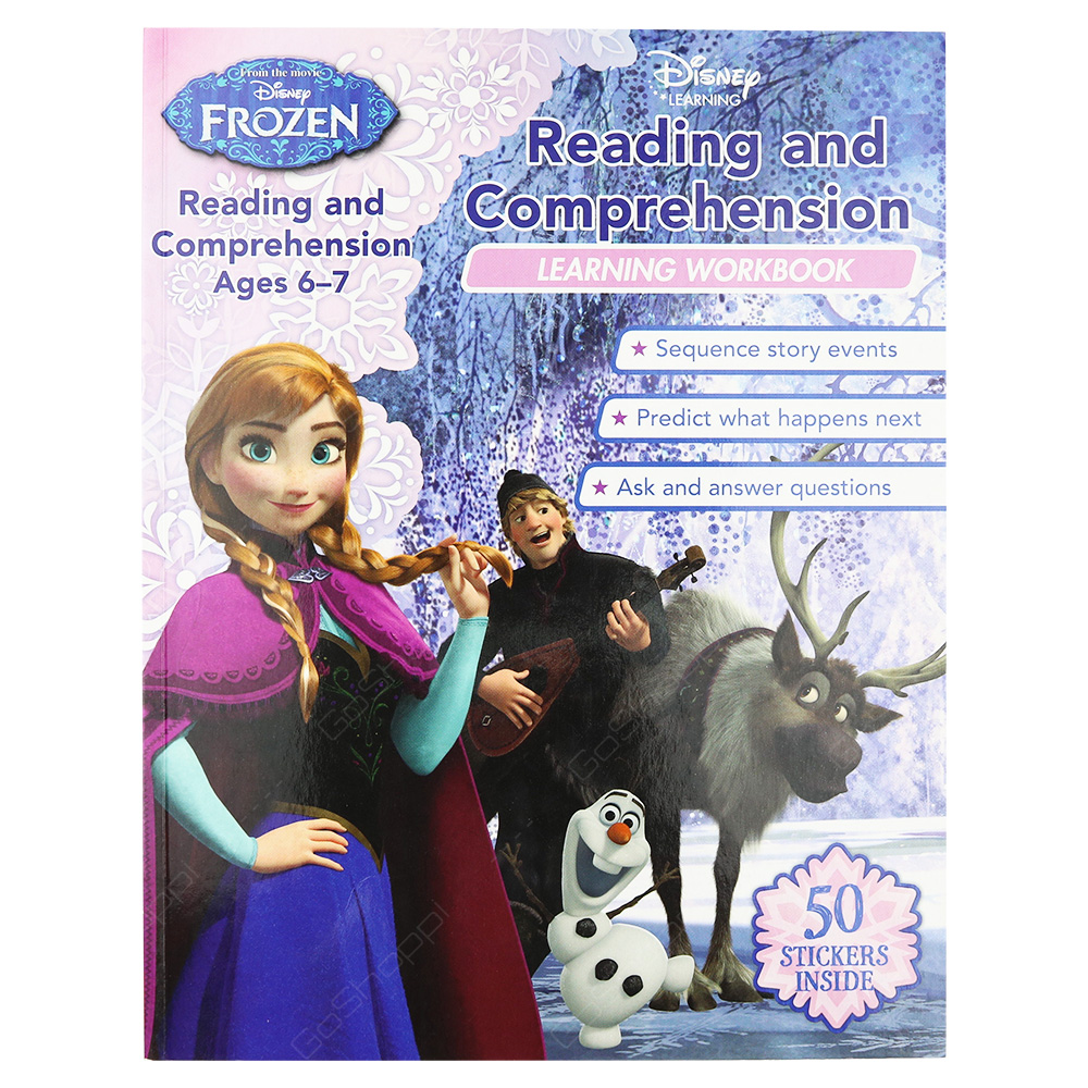 Disney Frozen - Reading And Comprehension Learning Workbook Ages 6-7