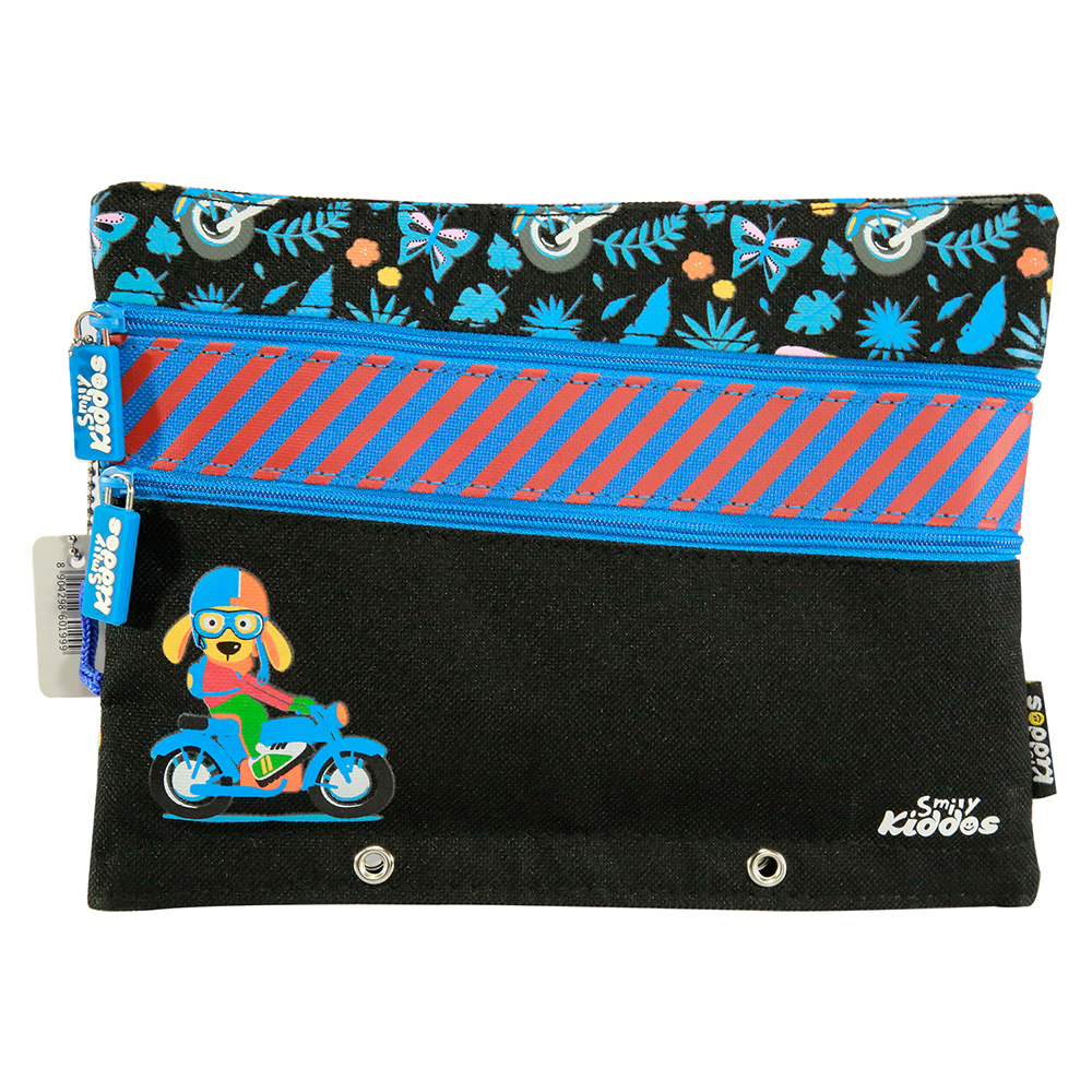 Fancy A5 Pencil Case Black - Black