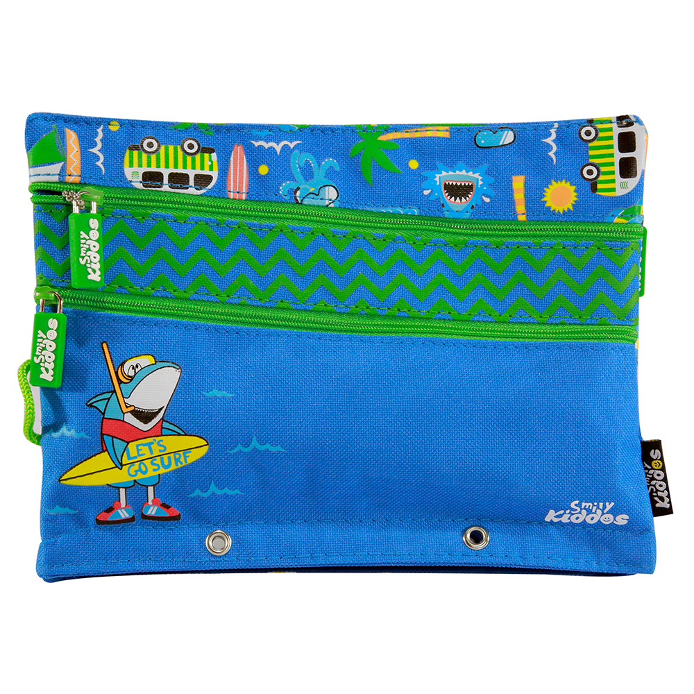 Fancy A5 Pencil Case Blue - Blue