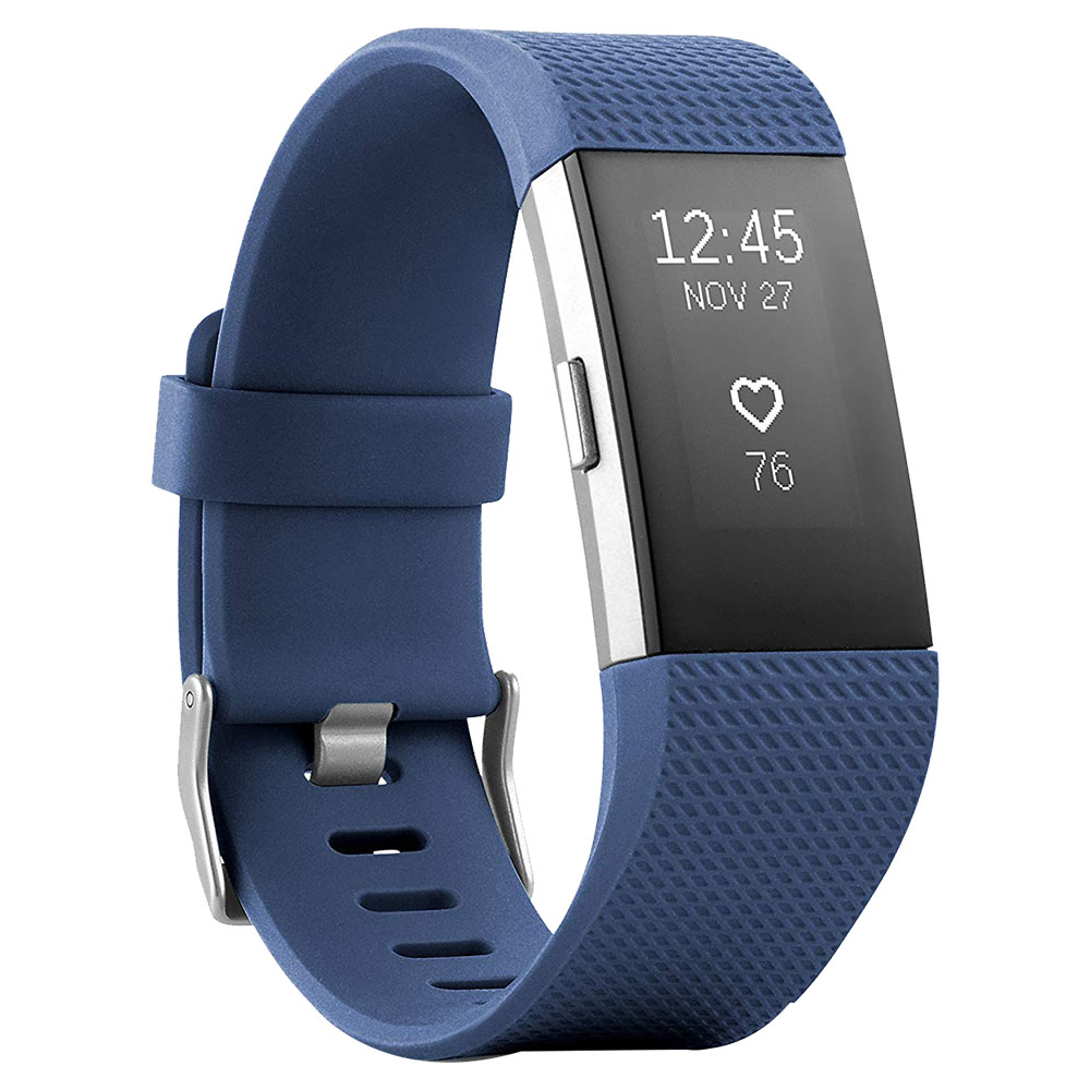 Fitbit Charge 2 Pure Pulse Heart Rate Fitness Band Small - Blue Silver - FB407SBUS-EU