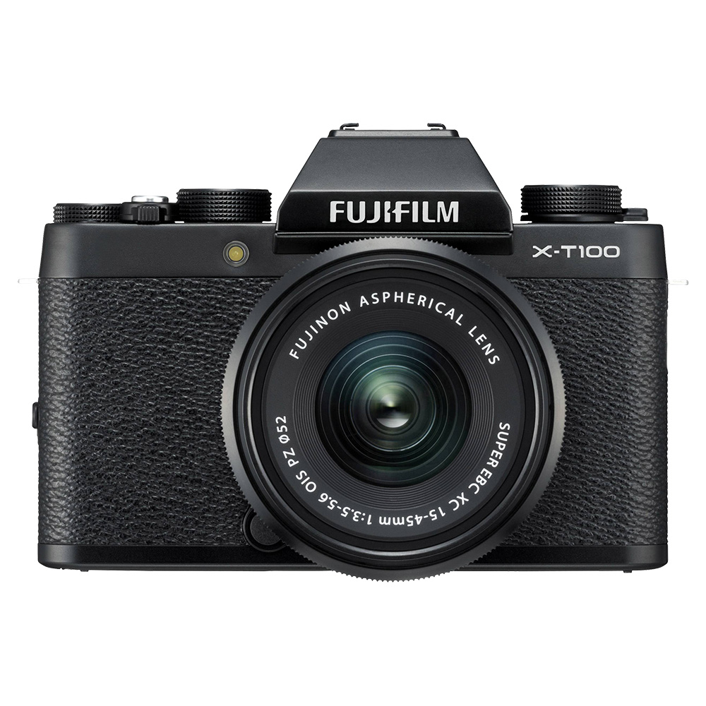 Fujifilm X-T100 Mirrorless Digital Camera With XC15-45mm Lens - Black