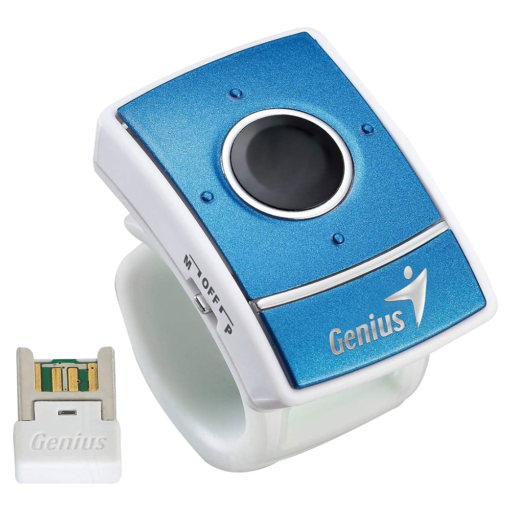 Genius Ring Presenter - Finger Mouse With Laser 31030068101 - Blue