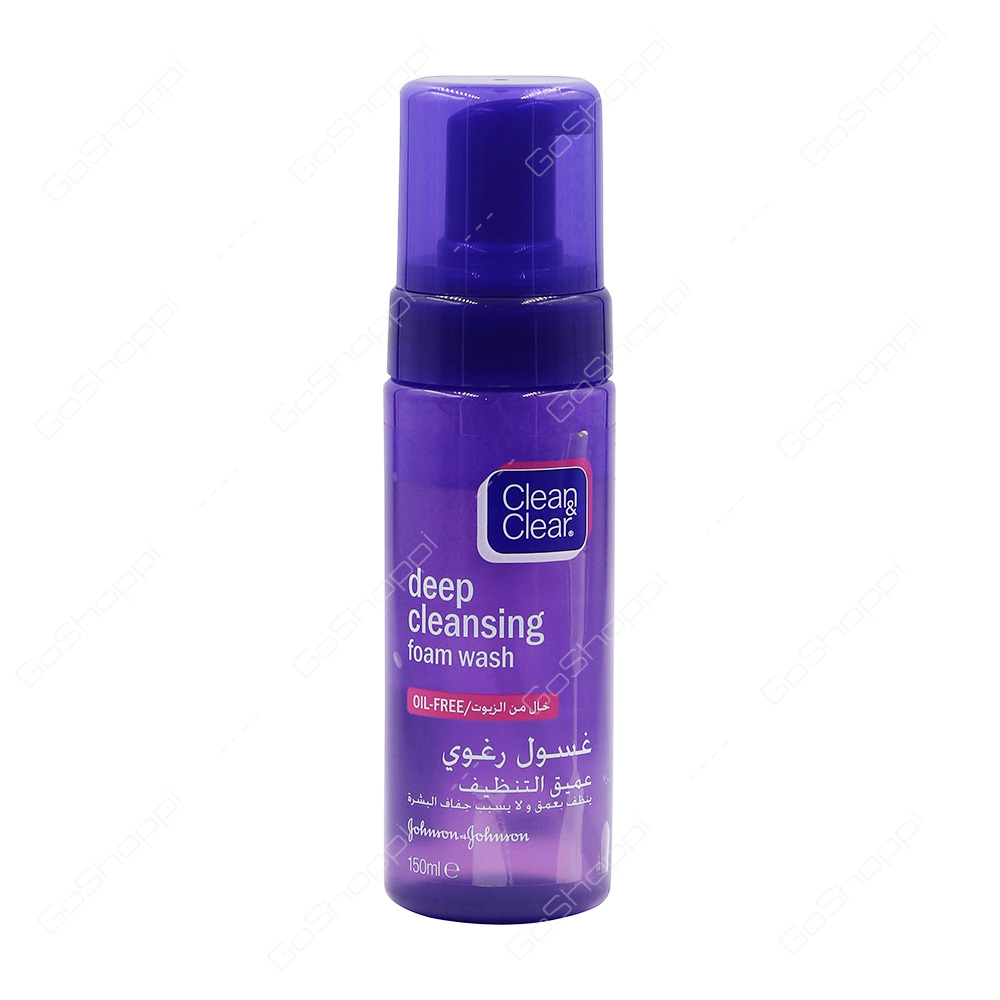 Johnson And Clean Clear Deep Cleansing Foam Wash 150 Ml Revitalift Milky