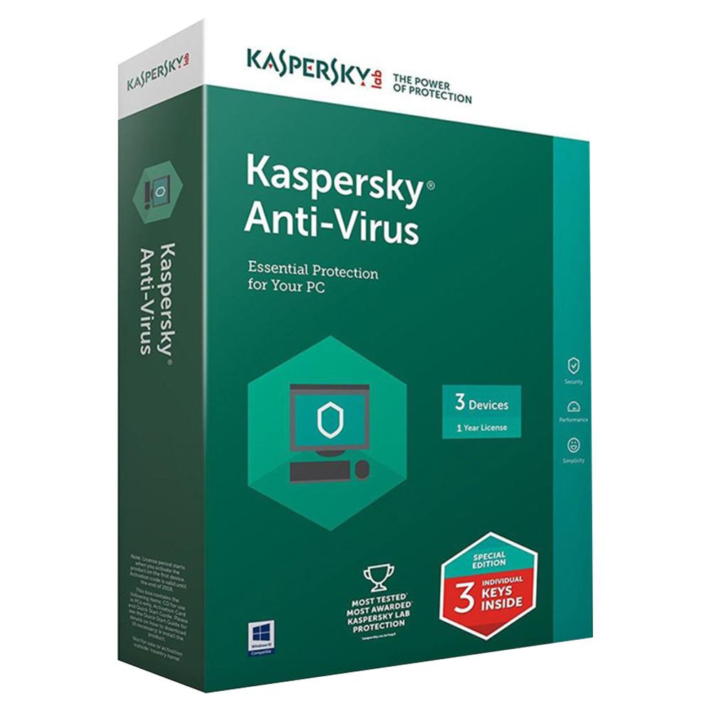 Kaspersky Anti Virus 2017 3+1 User Multicolor KAV4PCRT2017