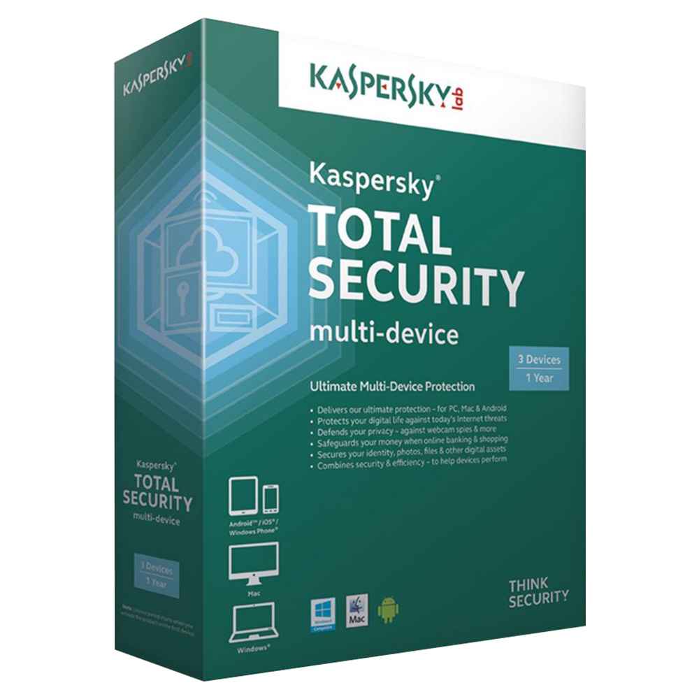 Kaspersky Total Security Ultimate Multi Device Protection 3 Users - KTSMD3USER