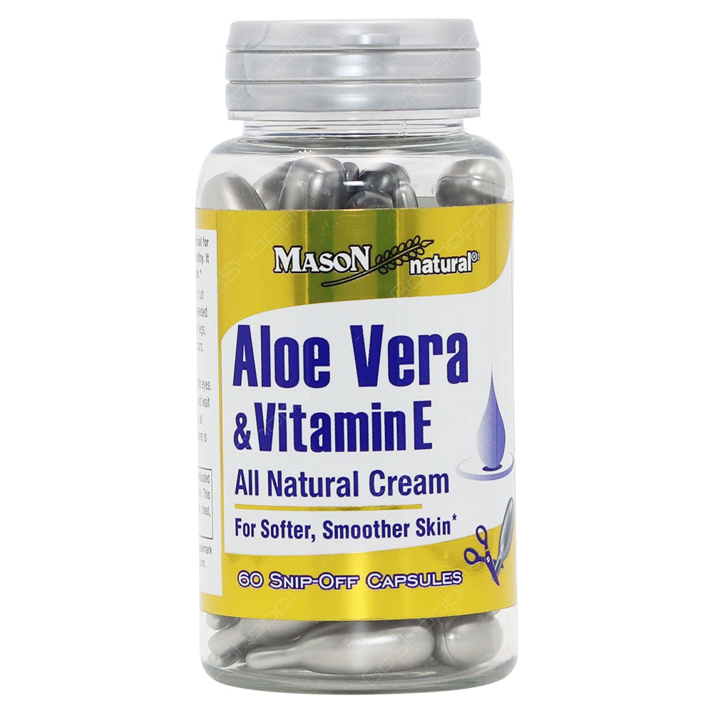 Mason Natural Aloe Vera & Vitamin E Snip Off Capsules 60Capsules
