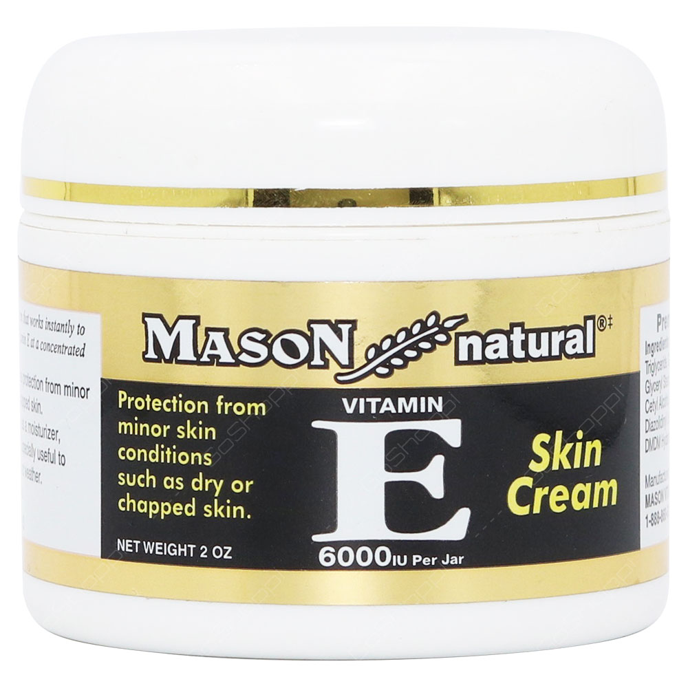 Mason Natural Skin Cream Vitamin E 6000Iu Per Jar 57g
