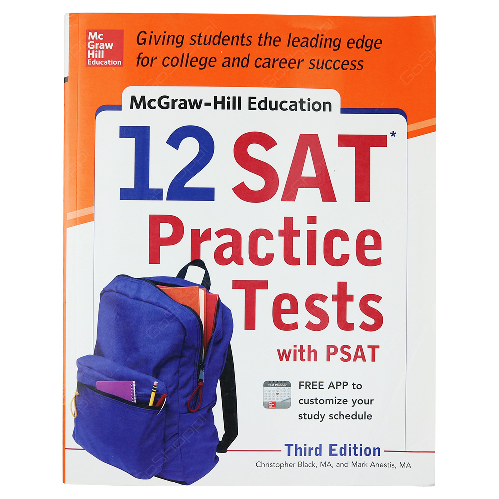 McGraw-Hill Education 12 SAT Practice Tests With PSAT 3rd Edition