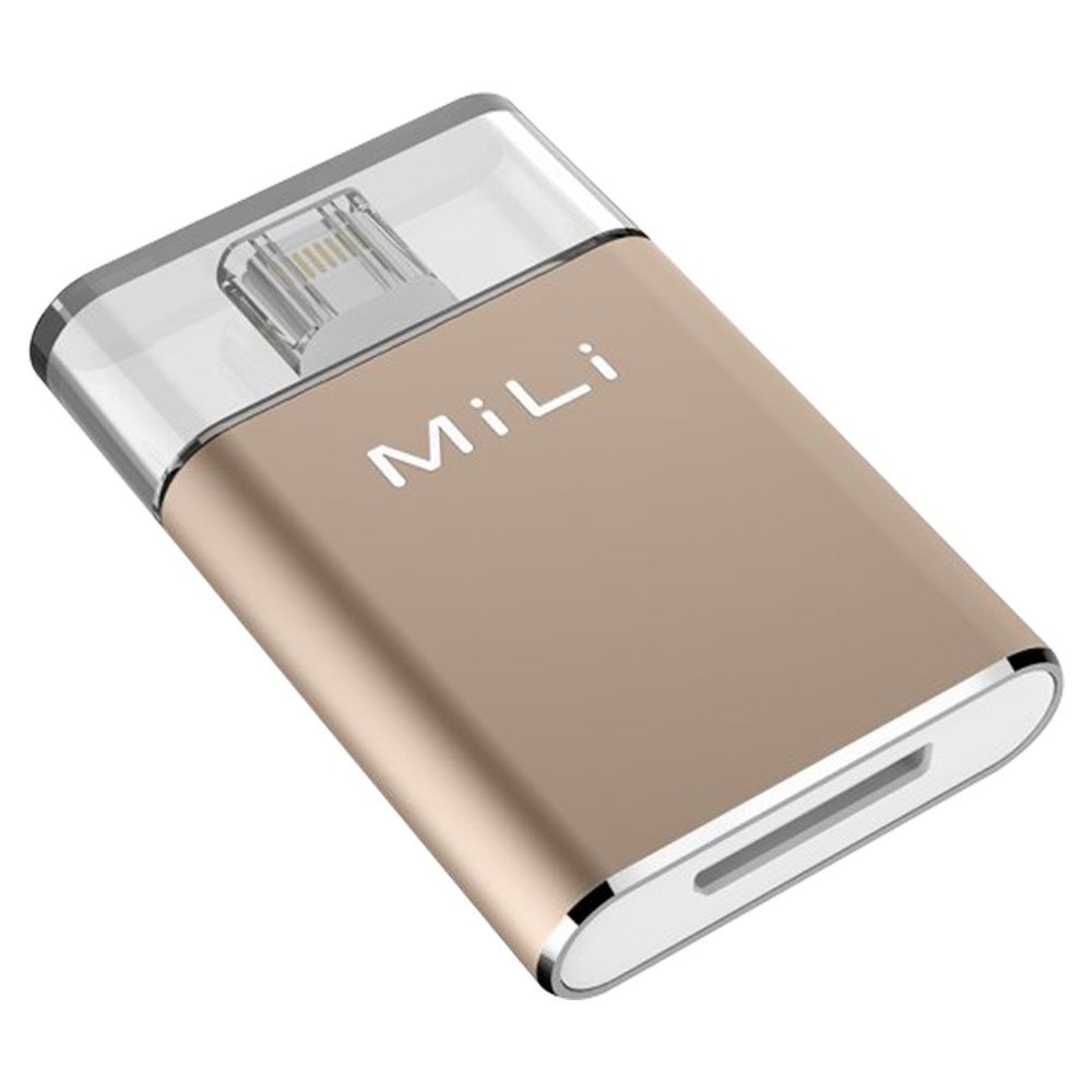 MiLi HI-D92 iData Pro External Storage For Apple Lightning Devices 64GB Gold