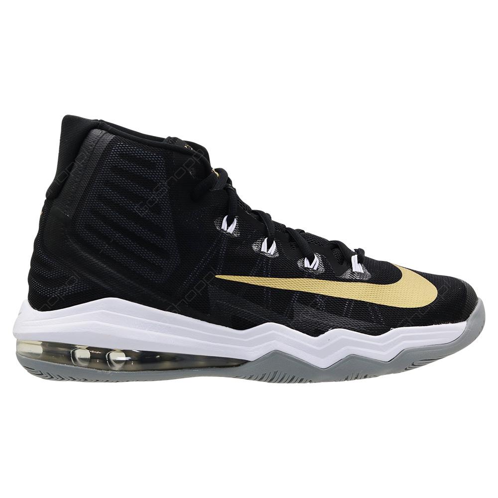 acaf68d709ba Nike Air Max Audacity 2016 Basketball Shoes For Men - Black - Metallic Gold  - Dark