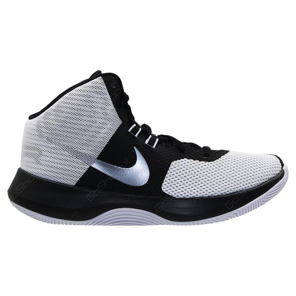 23efcbd007b Nike Air Precision Basketball Shoes For Men - White - Metallic Cool Grey -  Black -
