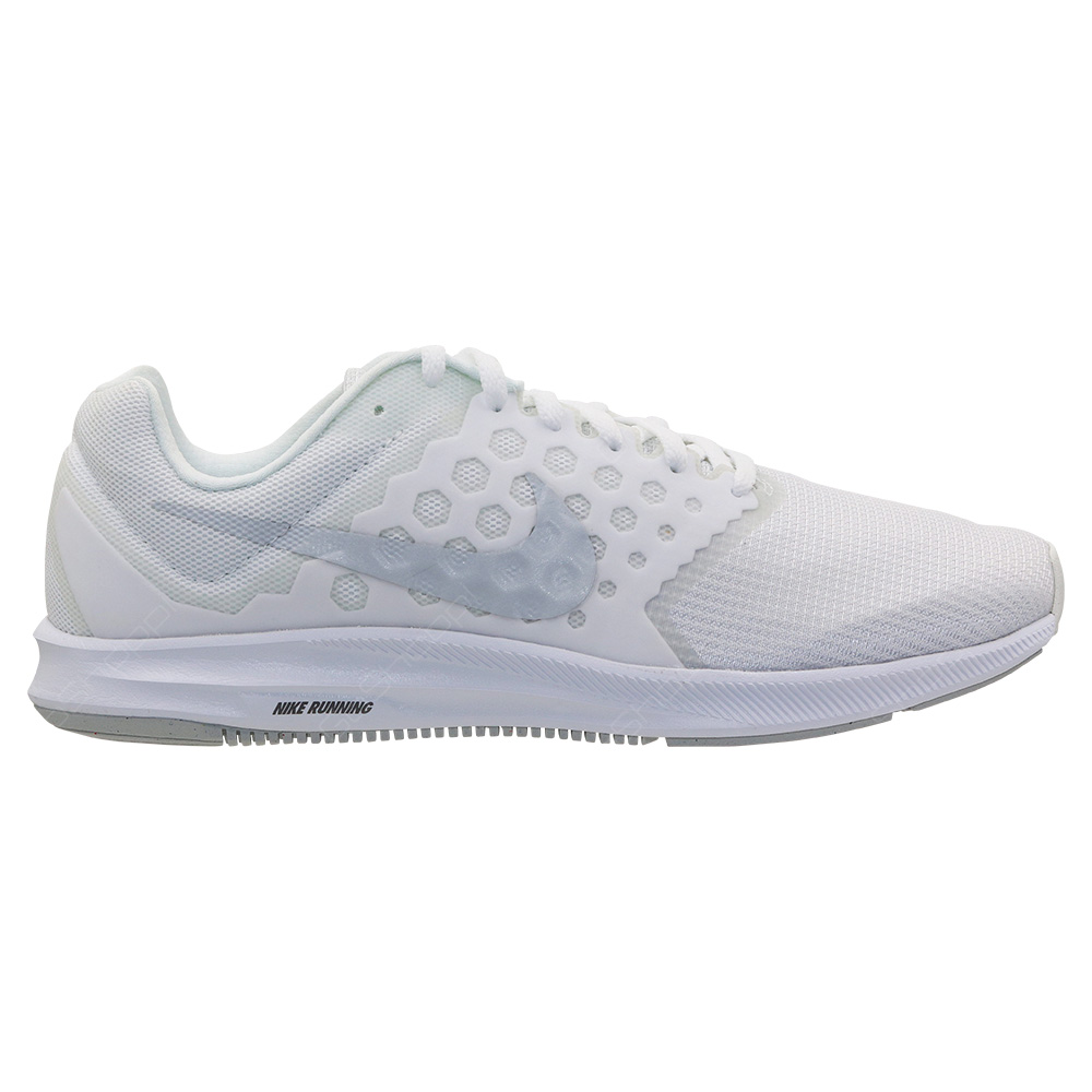 2558aa3a4f69 Nike Downshifter 7 Running Shoes For Men - White - Pure Platinum -  852459-100
