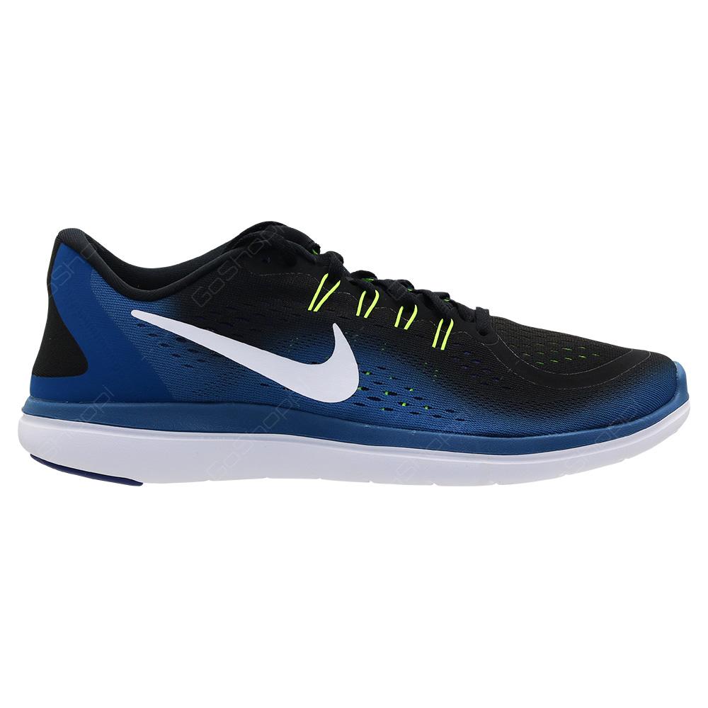 ae36a7e482eb Nike Flex 2017 RN Running Shoes For Men - Black - White - Industrial Blue -