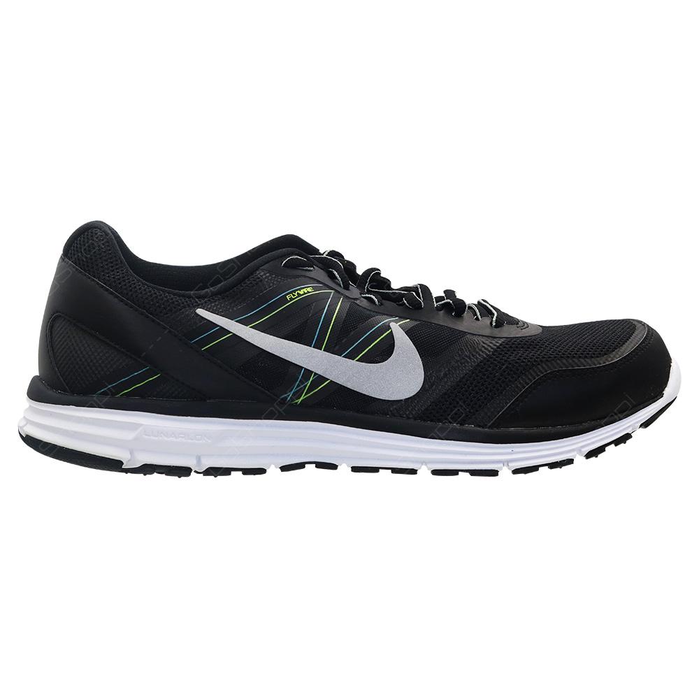a9d56508fec5c Nike Lunar Forever 4 MSL Running Shoes For Men - Black - Metallic Silver -  White