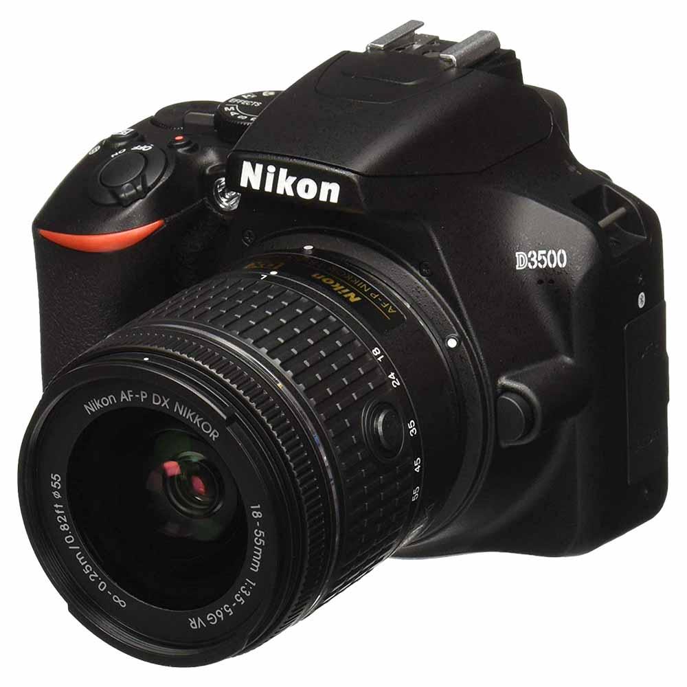 Nikon D3500 DSLR Camera AF-P DX NIKKOR 18-55mm f/3.5-5.6G VR - Black