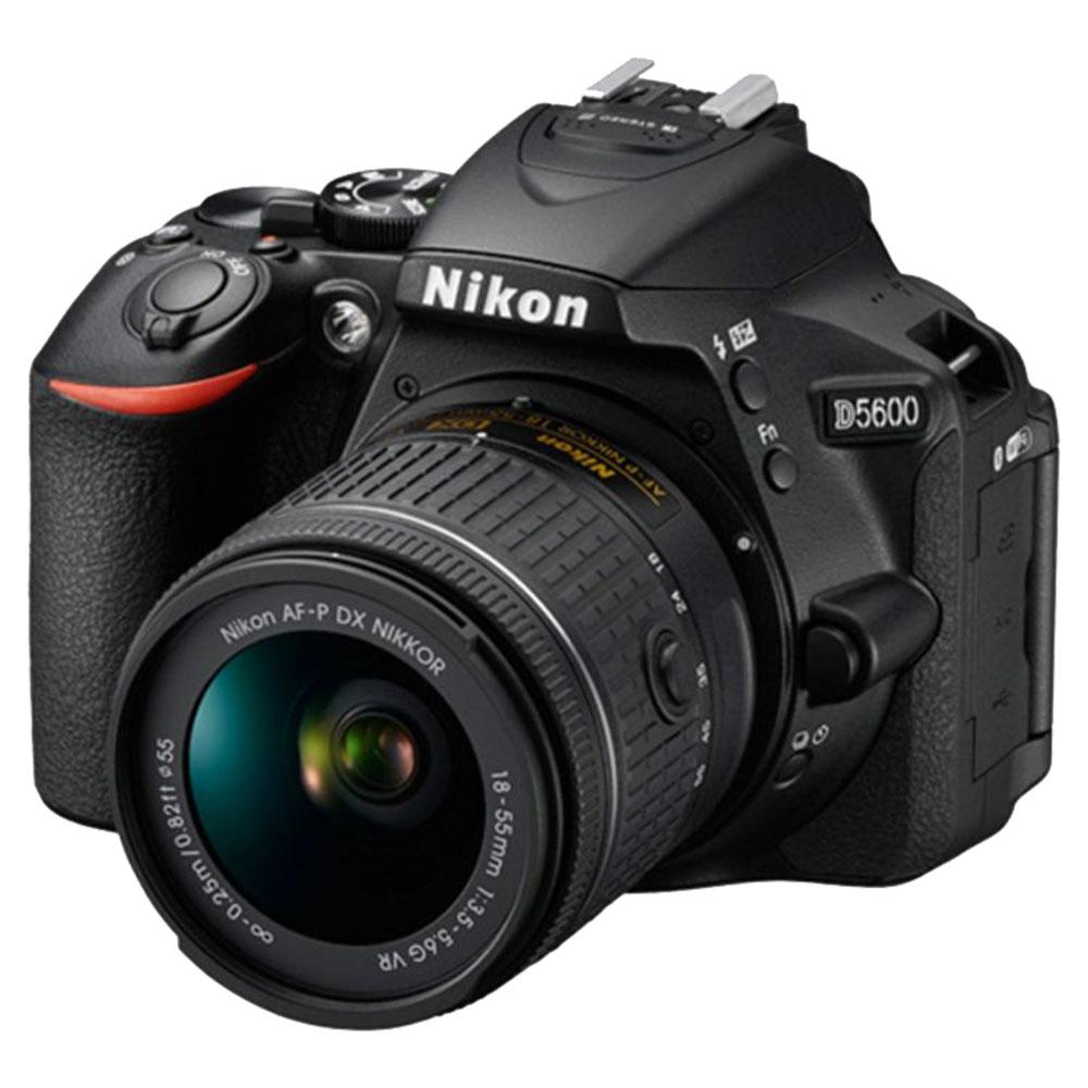 Nikon D5600 Digital SLR Camera With AF-P DX 18-55mm VR Lens - Black - D5600BK