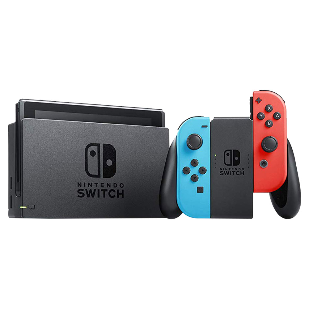 Nintendo Switch Neon Joy Con Console With 1 Game And Accessory - HWSW-427054